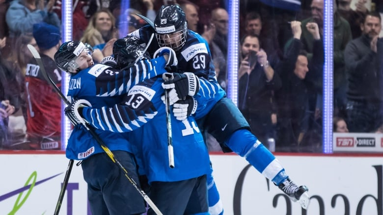 Finland Scores Late To Beat U S In Gold Medal Game Cbc Sports