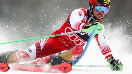 Hirscher pulls away from Austrian teammate to win 30th World Cup slalom