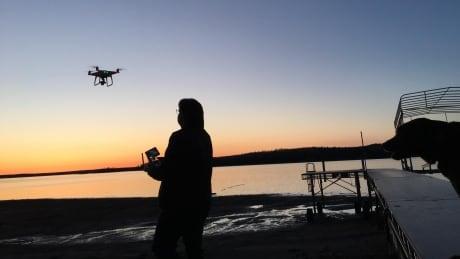 Alan Auld flies a drone