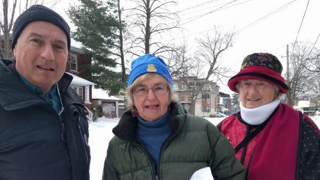 Peter Wells, Anna Cuylits and Catherine Read Ottawa snow moles January 2019