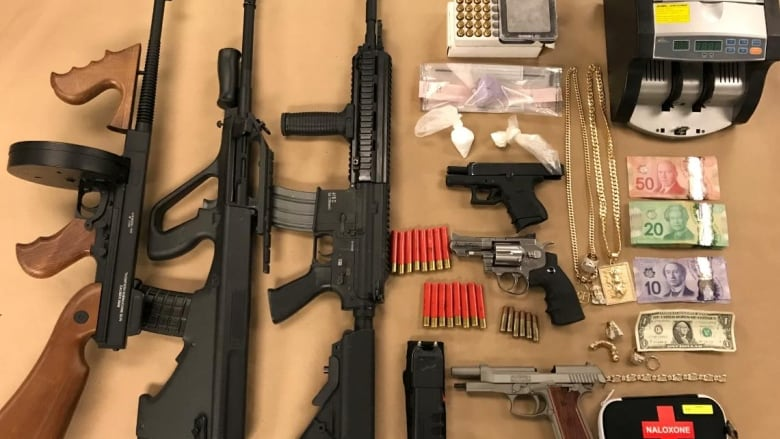 Fentanyl, cocaine and replica guns seized in London bust