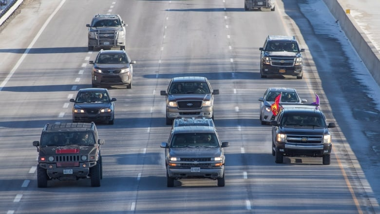 Indigenous convoys slow Ontario highway traffic in solidarity with