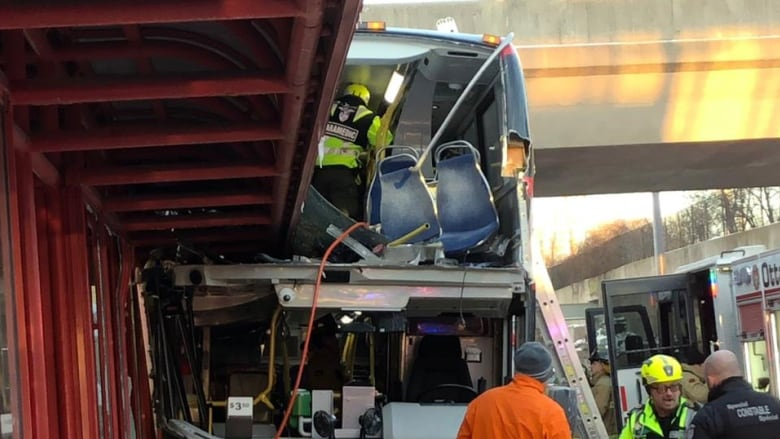 3 dead in bus crash at Ottawa transit station | CBC News