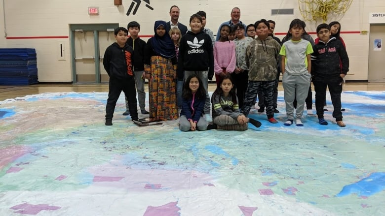 Map Of Canada Grade 5.Giant Indigenous Peoples Atlas Floor Map Gives Students A