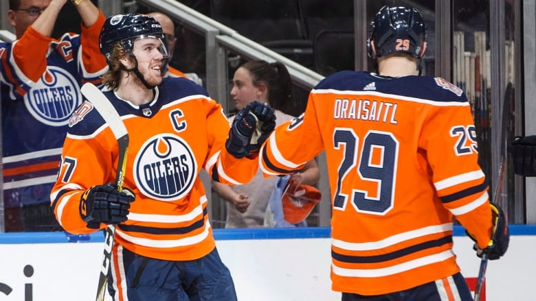 19430153871 Edmonton Oilers' Connor McDavid (97) and Leon Draisaitl (29) have led the  team in scoring this year, but it wasn't enough over the weekend as they  were ...