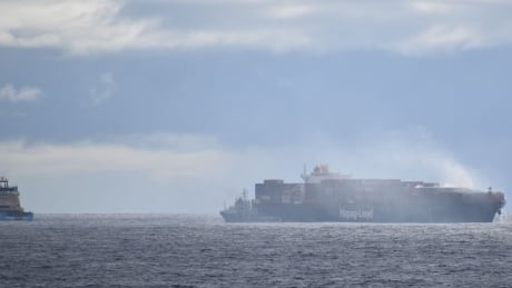 New photos show fire burning aboard Halifax-bound ship in Atlantic