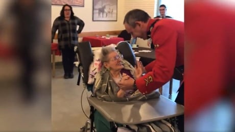 100-year-old Regina woman's birthday wish for a dance with a Mountie comes true