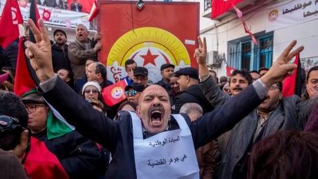 APTOPIX Tunisia Strike
