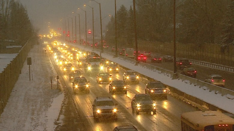 Winter weather returns to Calgary with a wallop and slippery streets