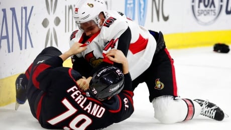 Senators Hurricanes Hockey