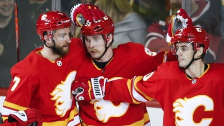 Flames push point streak to 7 games with win over Red Wings