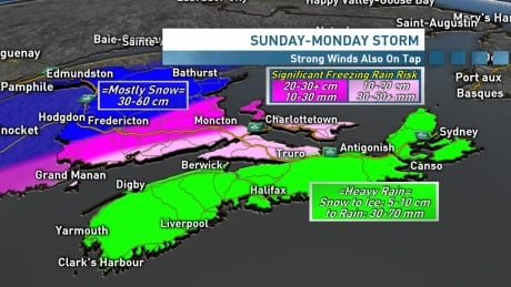 Sunday's Maritime storm will pack a punch