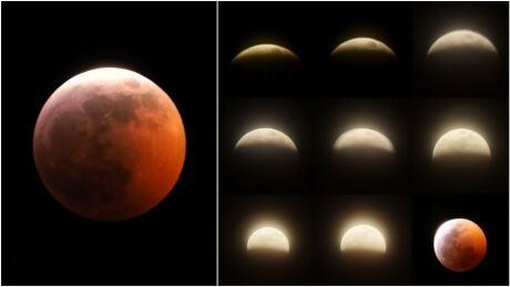 Lunar eclipse super moon