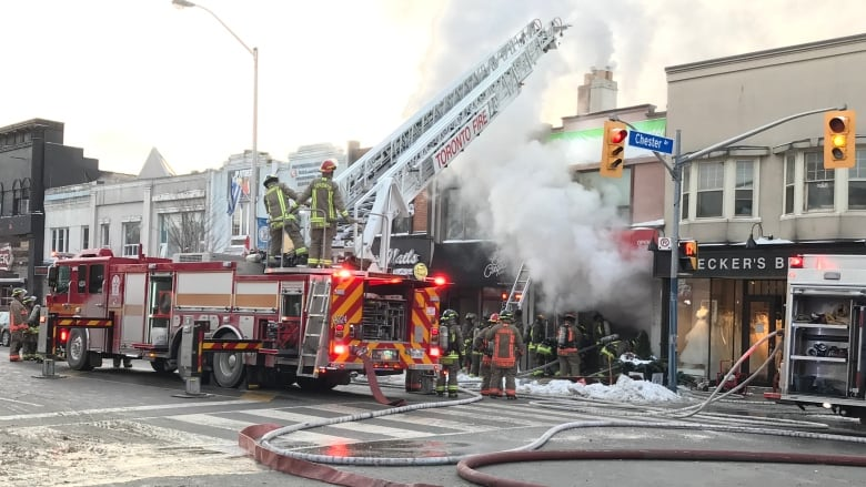Firefighters extinguish 'stubborn' fire in commercial
