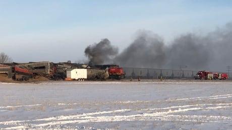 Train derailment north of Saskatoon