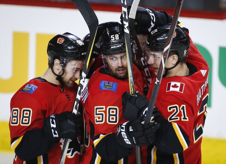 Flames get Avalanche in first round of National Hockey League playoffs