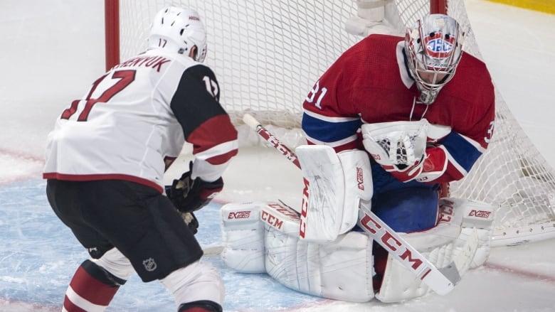 Montreal Canadiens goaltender Carey Price (31) stops a shot from former  teammate Alex Galchenyuk. (Ryan Remiorz The Canadian Press) 6c3c9fcd2