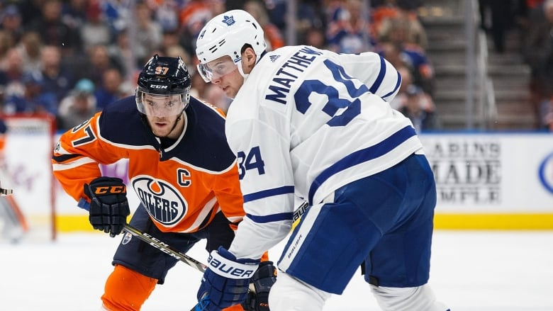 0d0a0b1036e Edmonton s Connor McDavid (97) and Toronto s Auston Matthews will serve as  captains at this weekend s NHL all-star game in San Jose.