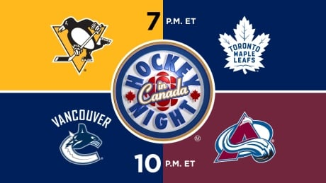 HNIC - PIT at TOR - VAN at COL - Penguins at Maple Leafs - Canucks at Avalanche