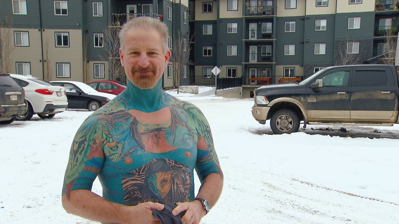 Mr Avatar Edmontonian S Tattooed Body Pays Tribute To His Favourite Flick Cbc News