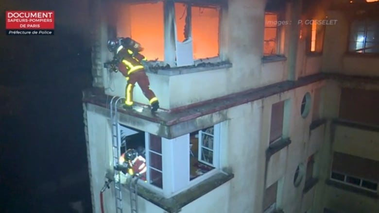Paris fire: Seven dead after flames engulf building