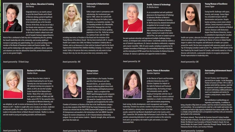 The Names Of The 2019 YMCA Women Of Excellence Recipients