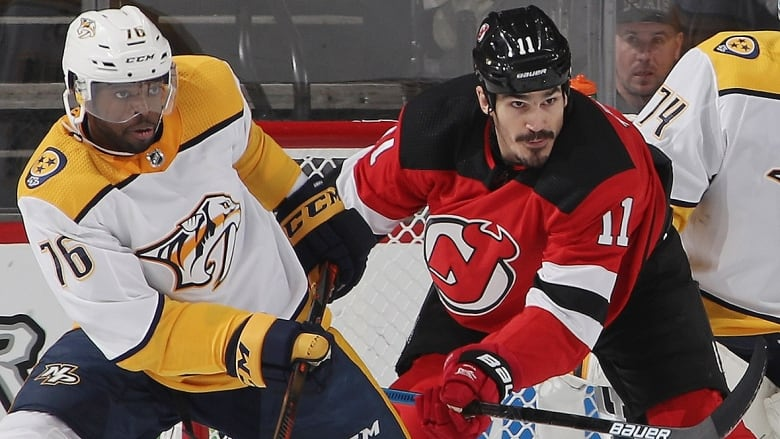 7855a6fa8f6 Former Devils forward Brian Boyle, right, is the newest Predator, joining  defenceman P.K. Subban, left, in a trade on Wednesday.