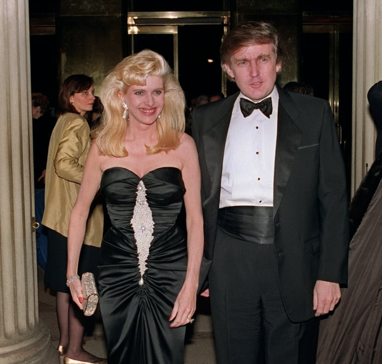The Trumps, seen here in a 1989 photo, would divorce in the 1990s. Ivana Trump would continue to use her ex-husband's surname after the split. (SWERZEY/AFP/Getty Images)