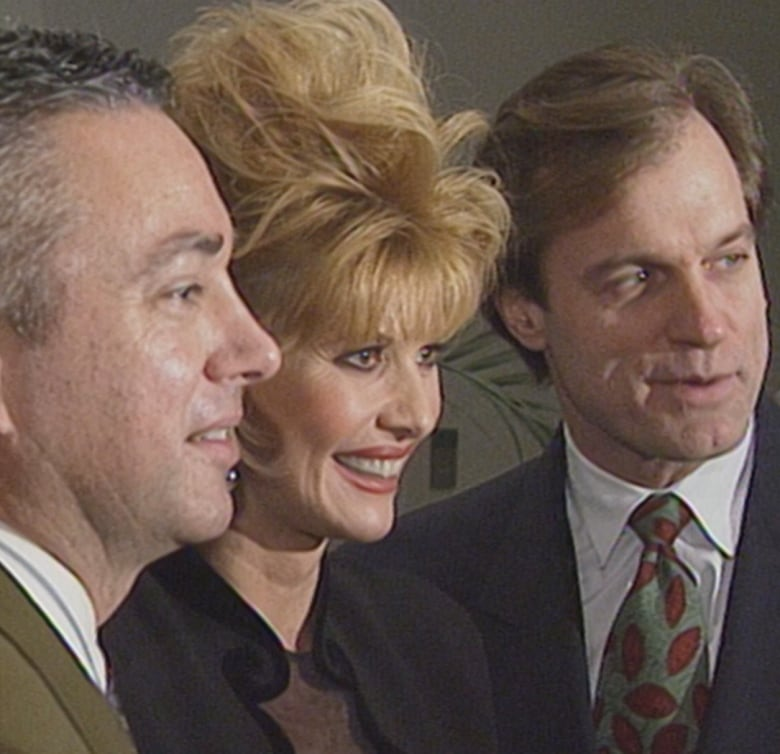 In 1993, Ivana Trump was in Montreal to shoot a cameo for a TV movie based on her novel, For Love Alone. (Newswatch/CBC Archives)