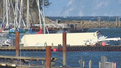 Sewells Marine capsized barge 9 Feb. 2019