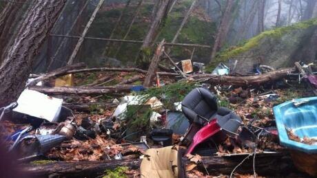 Little Mountain Parksville B.C. trash