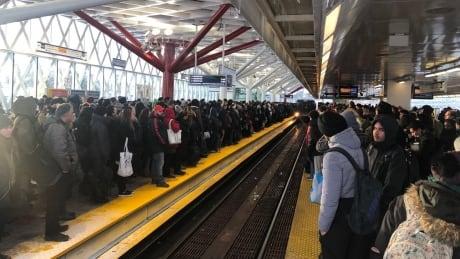 Transit SkyTrain winter