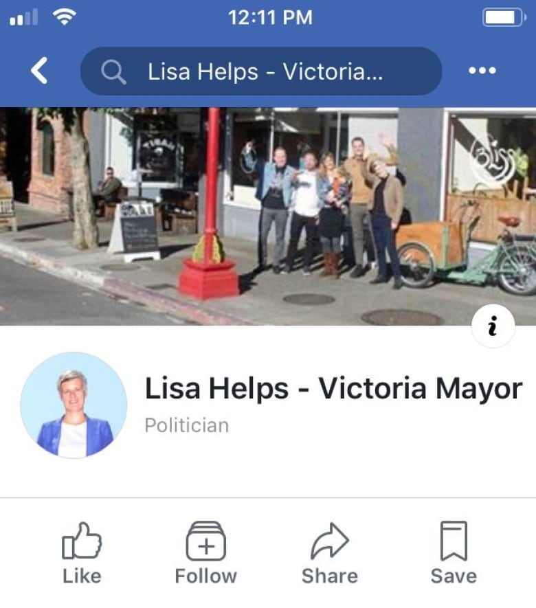 Victoria mayor doesn't 'like' fake Facebook profile, has it pulled