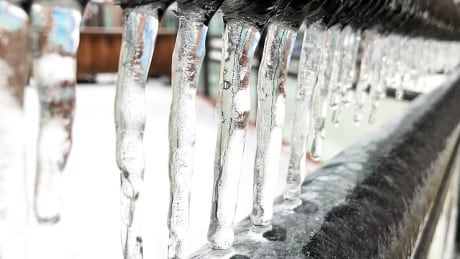 Icicles freezing rain ice icy cold winter weather generic