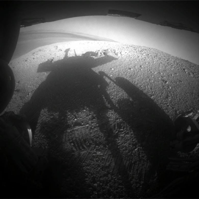 Photos taken by the Mars Exploration Rover Opportunity during its Mars journey