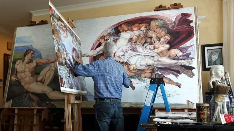 Retired B.C. repairman covers home with his own stunning replicas of masterpiece art
