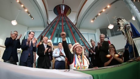Chief Michael Starr First Nations University of Canada urban reserve designation signing ceremony