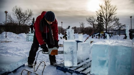 How is winter celebrated in northern B.C.? With colourful ice displays and a beard-growing contest