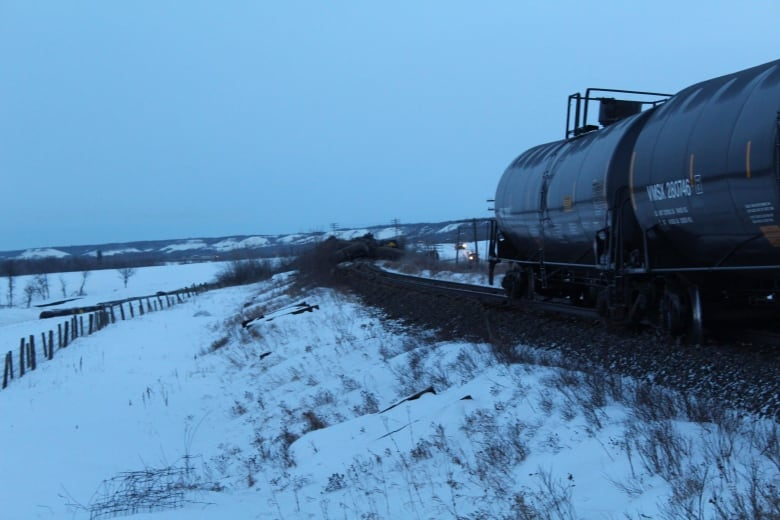 'You can smell crude in the air': Train carrying oil derails near southwestern Manitoba village