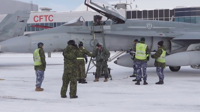 First used Australian fighter jets land in Cold Lake, Alta