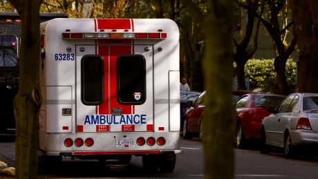 Generic BC Ambulance on side of street in Vancouver