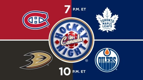 HNIC - MTL at TOR - ANA at EDM - Canadiens at Maple Leafs - Ducks at Oilers