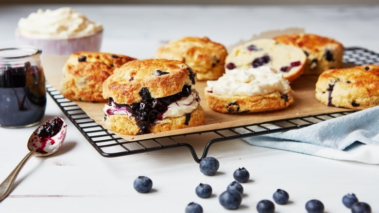 Super-easy recipes for Blueberry Cornmeal Scones with Homemade Jam and Maple Mascarpone