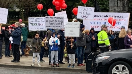 west van b line protest