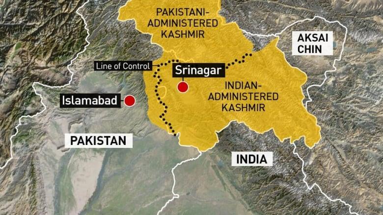 Cartina India Pakistan.India Intensifies Kashmir Crackdown As Tensions Continue To Rise Cbc News