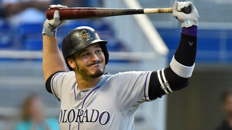 57d71e4ea Rockies  slugger Nolan Arenado reportedly has agreed to an eight-year contract  extension worth  260 million US. If finalized
