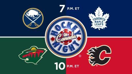 HNIC - BUF at TOR - MIN at CGY - Sabres at Maple Leafs - Wild at Flames