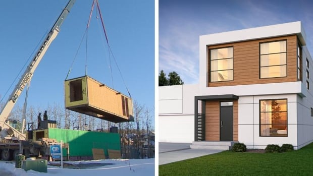 'Net-zero' shipping container home being built in eco-friendly Calgary community | CBC News