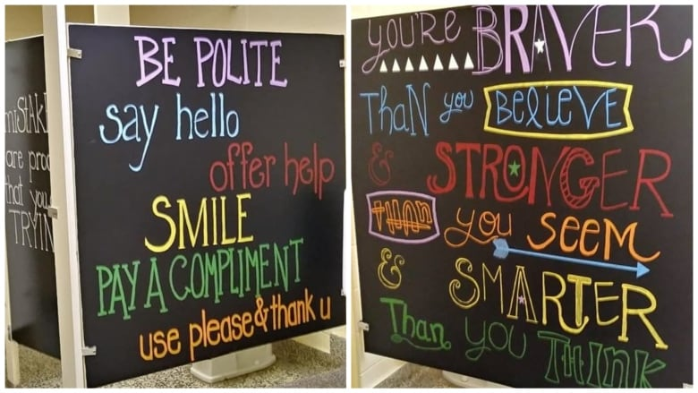 Murals Painted On The Outside Of The Bathroom Stall Doors