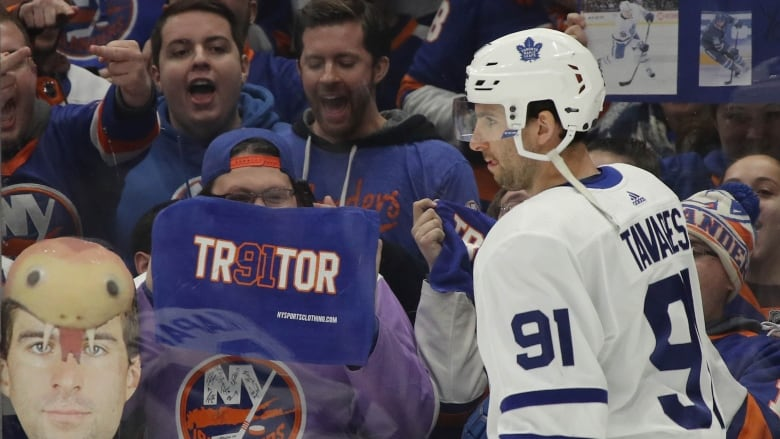 Leafs  Tavares gets rude welcome back from Islanders 5b39bf26c